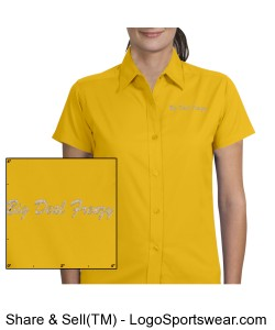 Ladies Short Sleeve Teflon Twill Shirt Design Zoom